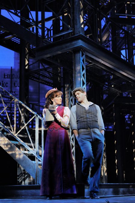 PS - Newsies - Broadway - Kara Lindsay and Jeremy Jordan - Photo by Deen van Meer.