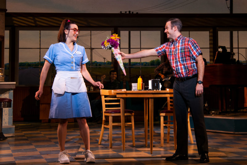 Jessie Shelton and Jeremy Morse in the National Tour of Waitress Credit Philicia Endelman DSC_1028